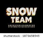 vector premium emblem snow team.... | Shutterstock .eps vector #1873658545