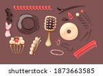 hairdressers fashionable ... | Shutterstock .eps vector #1873663585