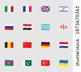 flags collection  flat icons... | Shutterstock .eps vector #1873670365