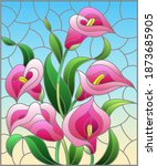 illustration in stained glass... | Shutterstock .eps vector #1873685905