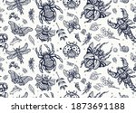 insects. old school tattoo... | Shutterstock .eps vector #1873691188