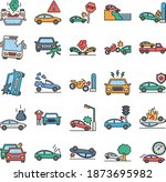 car accident isolated that... | Shutterstock .eps vector #1873695982