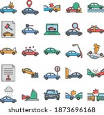 car accident isolated set that ... | Shutterstock .eps vector #1873696168