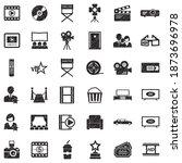 movie icons. black scribble...   Shutterstock .eps vector #1873696978