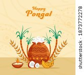 vector illustration of pongali... | Shutterstock .eps vector #1873772278