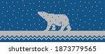 knitted winter blue background... | Shutterstock . vector #1873779565