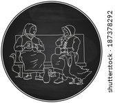 coaster vector illustration... | Shutterstock .eps vector #187378292