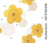 cherry blossom flower seamless... | Shutterstock .eps vector #1873783348