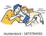 excited man holding digital... | Shutterstock .eps vector #1873784032