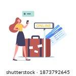 female character use travel...   Shutterstock .eps vector #1873792645
