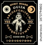 ouija board with a voodoo doll. ... | Shutterstock .eps vector #1873794802