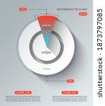 infographic pie chart template. ... | Shutterstock .eps vector #1873797085
