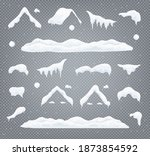 snow caps  snowballs and... | Shutterstock .eps vector #1873854592