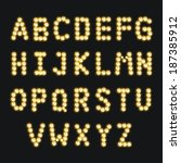 alphabet set with diamond lamp  ... | Shutterstock .eps vector #187385912