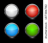 buttons. raster copy. | Shutterstock . vector #187386782