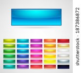 colorful web buttons set | Shutterstock .eps vector #187386872
