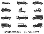 vector vehicle and transport... | Shutterstock .eps vector #187387295