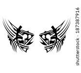 black tribal element | Shutterstock . vector #187387916