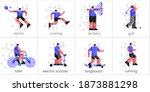 set of icons  sports and... | Shutterstock .eps vector #1873881298