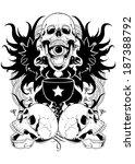 skull potion | Shutterstock .eps vector #187388792