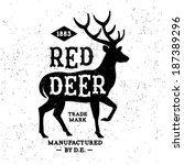 vintage label Red Deer ( T-Shirt Print )