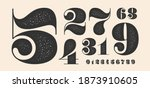 number font. font of numbers in ...   Shutterstock . vector #1873910605