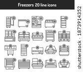 freezer cold color line icons... | Shutterstock .eps vector #1873914352
