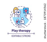 play therapy concept icon.... | Shutterstock .eps vector #1873914562