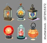 magic lantern set. fantasy lamp ...