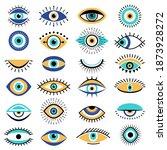 evil eyes symbols. illuminati... | Shutterstock .eps vector #1873928272