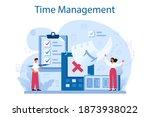 time management concept.... | Shutterstock .eps vector #1873938022