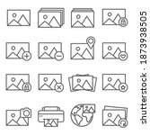 image line icon set on white... | Shutterstock . vector #1873938505