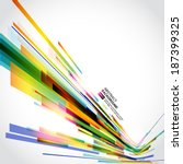 abstract technology lines... | Shutterstock .eps vector #187399325
