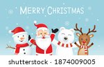 merry christmas and happy new... | Shutterstock .eps vector #1874009005
