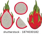 tropical fruits for healthy... | Shutterstock .eps vector #1874030182
