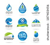 water icon set  water design... | Shutterstock .eps vector #187403456