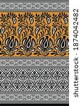 textile traditional paisley... | Shutterstock . vector #1874042482