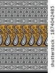 textile traditional paisley... | Shutterstock . vector #1874042485