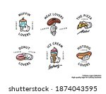 culinary logo set for business... | Shutterstock .eps vector #1874043595