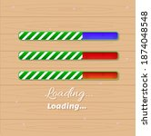 christmas loading bars game ui...