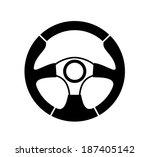 vector black steering wheel on...   Shutterstock .eps vector #187405142