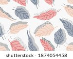 seamless pattern with abstract...   Shutterstock .eps vector #1874054458