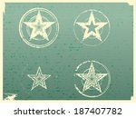 grunge stars background | Shutterstock .eps vector #187407782