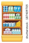 image shelves with dairy... | Shutterstock . vector #187409705
