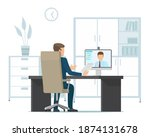 businessman talking to partner... | Shutterstock .eps vector #1874131678