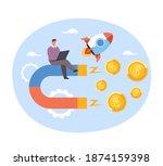 happy businessman office worker ...   Shutterstock .eps vector #1874159398