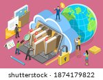 3d isometric flat vector... | Shutterstock .eps vector #1874179822
