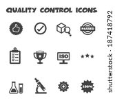 quality control icons  mono... | Shutterstock .eps vector #187418792