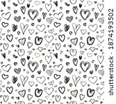 hand drawn background with... | Shutterstock . vector #1874193502