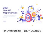 people putting arrows and darts ... | Shutterstock .eps vector #1874202898